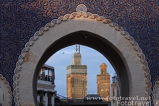 Puerta Azula Medina Fez