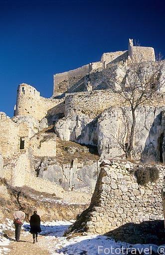 Entrada al castillo. Pueblo de MORELLA. Castellon. Comunidad Val