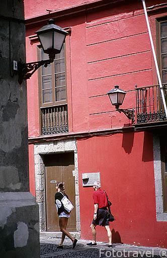 Una bonita calle en la zona de Vegueta. Las Palmas. GRAN CANARIA