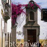 Fachada de la ermita de Colón o de S. Antonio Abad. Barrio de V