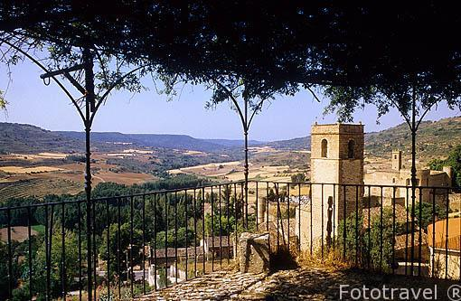 Mirador en el jardín de la Real Fábrica de Paños de Carlos I