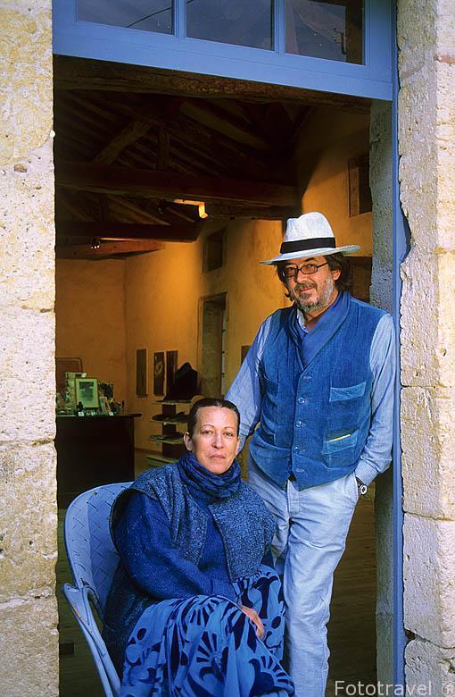 El Sr. Henri Lambert (Facellido el 03/2010) y su esposa Denise.
