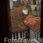 Vista de algunas torres de antiguos comerciantes de azul pastel