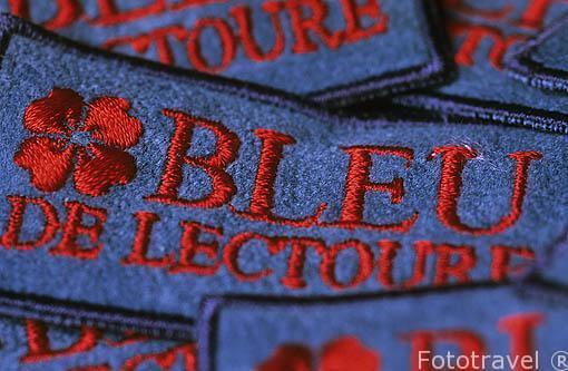 """Detalle de una etiqueta de la empresa """"Bleu de Lectoure"""". LECTOU"""