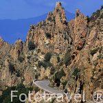 El paraje montañoso de las Calanches protegido por la UNESCO. A