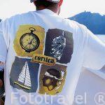 Camiseta con simbolos de la isla de CORCEGA. Reserva natural de