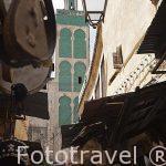 Calles estrechas en la Medina del s.IX, casco historico patrimon