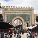 Puerta principal Bab Boujlod. Accesro a la medina del s.IX, casc