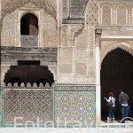 Patio interior. Madrasa Bouananiya o Bou Inania, s. XIV. Medina,