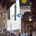 Calle dentro del casco historico de la medina. Patrimonio de la