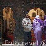 Entrada a una mezquita. Casco historico de la medina. Patrimonio