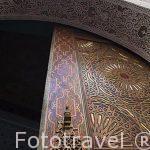 Detalle de una puerta y aldaba. Casco historico patrimonio de la