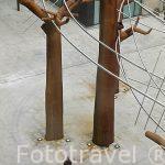 Plaza y escultura. AMBERES - ANTWERPEN. Belgica