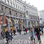 Calle comercial Meir. Ciudad de AMBERES - ANTWERPEN. Belgica