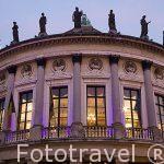 Detalle del Teatro Bourla. Ciudad de AMBERES - ANTWERPEN. Belgica