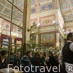Cafeteria en el interior de De Foyer. Teatro Bourla. Ciudad de AMBERES - ANTWERPEN. Belgica