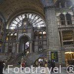 Estacion central de trenes. Ciudad de AMBERES - ANTWERPEN. Belgica