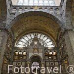Estacion central de trenes. Ciudad de AMBERES