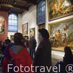 Varias pinturas en el museo Casa de Rubens. Ciudad de AMBERES - ANTWERPEN. Belgica