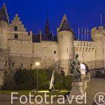 La antigua Fortaleza T Steen. Ciudad de AMBERES - ANTWERPEN. Belgica