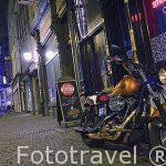 Calle iluminada. AMBERES. ANTWERPEN. Belgica.