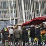 Mercado de flores. AMBERES - ANTWERPEN. Belgica