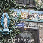 Virgen en la calle deTorfbrug. Ciudad de AMBERES - ANTWERPEN. Belgica