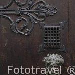 Aldaba en la puerta de una vivienda. Ciudad de AMBERES - ANTWERPEN. Belgica