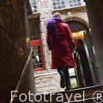 Calle y escaleras, Ciudad de Amberes