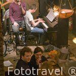 Concierto de musica jazz en directo en el cafe-restaurante De Muze. AMBERES - ANTWERPEN. Belgica