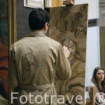 Chico pintando. Museo de Bellas Artes. AMBERES - ANTWERPEN. Belgica