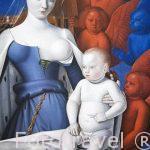 Madonna omringd door serafijnen en cherubijnen. por Jean Fouquet, s.XV. Museo de Bellas Artes. AMBERES - ANTWERPEN. Belgica