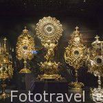 Custodias de ss. XVIII- XIX. Diamantes y oro. Museo del Diamante. Ciudad de AMBERES - ANTWERPEN. Belgica