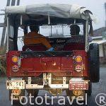Un vehiculo de la marca Willys , muy utilizado en la zona del Eje cafetero. QUINDIO. Colombia