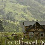 Casa de madera en el valle de Cocora. Cerca de SALENTO
