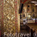 Interior de la iglesia colonial en pan de oro de Santo Domingo. s.XVII. TUNJA. Departamento de Boyaca. Colombia. Suramerica