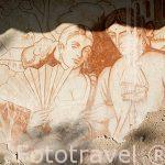 Pinturas murales de Camilo Torres y el pueblo en el Congreso de las Federaciones Unidas, 1812. Villa de Leyva. Departamento de Boyaca. Colombia. Suramerica