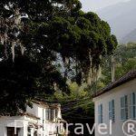 Calle empedrada en el casco historico de VILLA DE LEYA. Departamento de Boyaca. Colombia. Suramerica