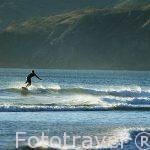 Surfista en playa Naranjo. Parque Nacional de Santa Rosa. GUANACASTE. Costa Rica.