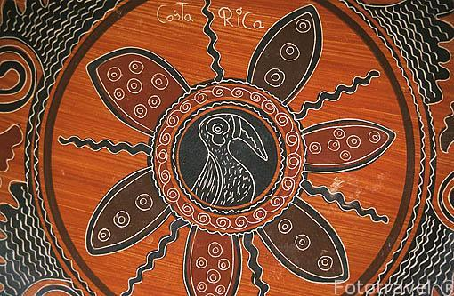 Detalle de una Ceramica de Santa Cruz de GUAYTIL. Costa Rica. Centroamerica.
