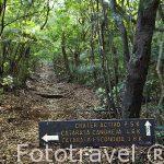 Cartel indicativo dentro del Parque Nacional Rincón de la Vieja. Guanacaste. COSTA RICA.