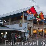 Bares y restaurantes en Puerto Viejo. Costa Caribe. Costa Rica