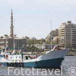 """Barco """"Princess Duda"""" lugar de trabajo del arqueologo submarino Franck Goddio. Bahia de Puerto del Este. ALEJANDRIA. Egipto"""