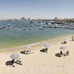 Pequeña playa de El Anfoshi, cerca de la fortaleza. Ciudad de ALEJANDRIA. Egipto