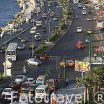 Calle 26 de Julio junto a la bahia del peurto Este. Ciudad de ALEJANDRIA. Egipto