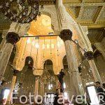 Interior de la mezquita de Abu al Abbas al-Mursi. Construida en 1769 y reconstruida en el s.XX. Ciudad de ALEJANDRIA. Egipto
