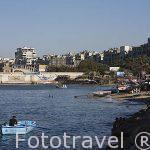 Playa de El Anfoshi. Ciudad de ALEJANDRIA. Egipto