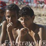 Jovenes en la playa del puerto Este. Ciudad de ALEJANDRIA. Egipto