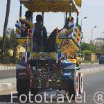 Carro colorido. Ciudad de ALEJANDRIA. Egipto
