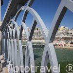 Puente y playa de Stanley. Ciudad de ALEJANDRIA. Egipto